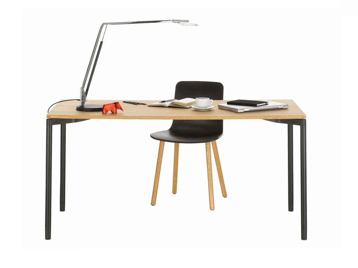 rectangular wood veneer writing desk map table home desk by vitra  - rectangular wood veneer writing desk map table home desk by vitra designbarber  osgerby