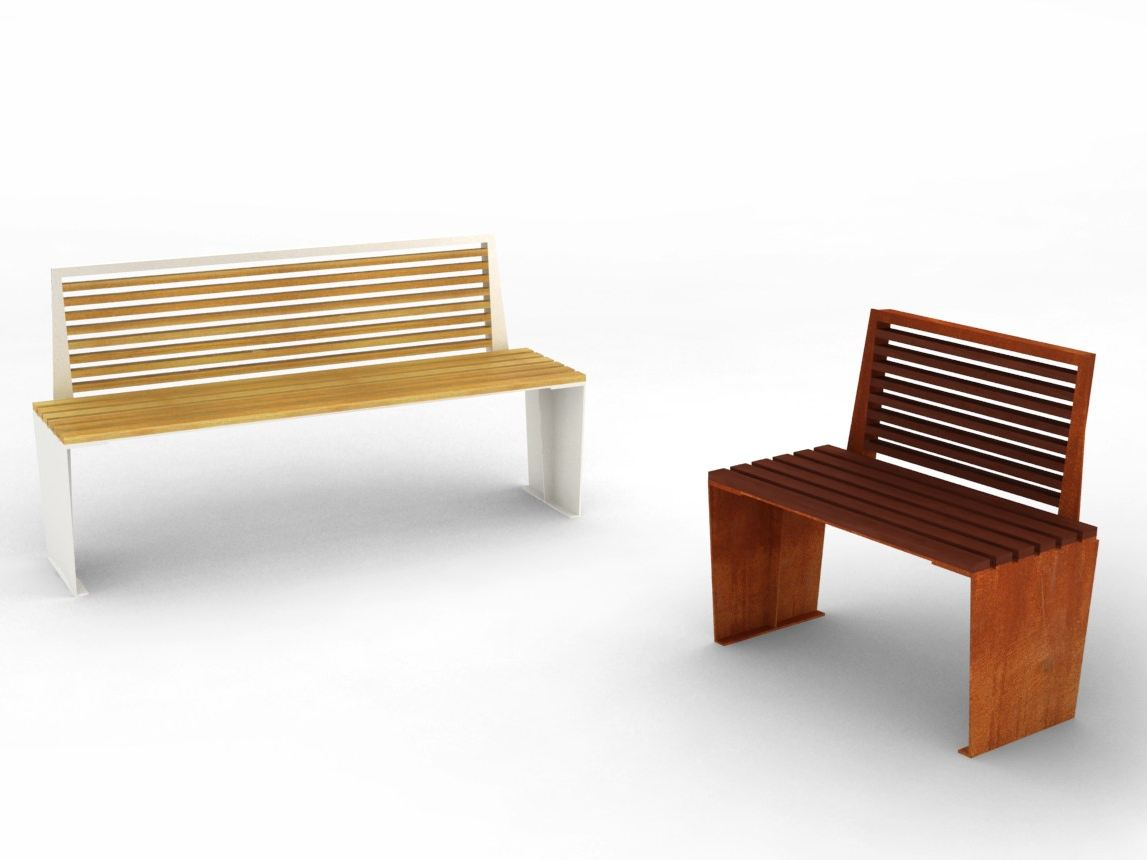 Amazing photo of Wooden Bench MARILYN by LAB23 Gibillero Design Collection design  with #AA4C21 color and 1147x860 pixels