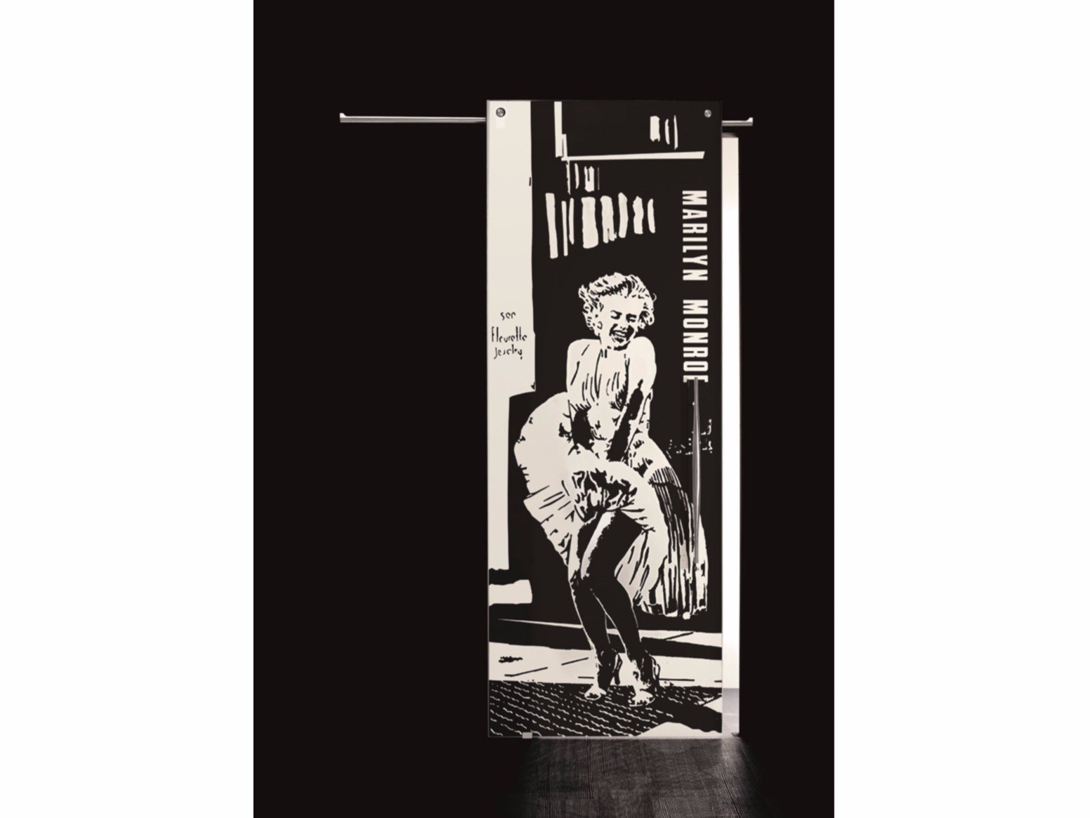 porta scorrevole in vetro audrey hepburn by casali - Porte In Vetro Scorrevoli Per Interni Casali