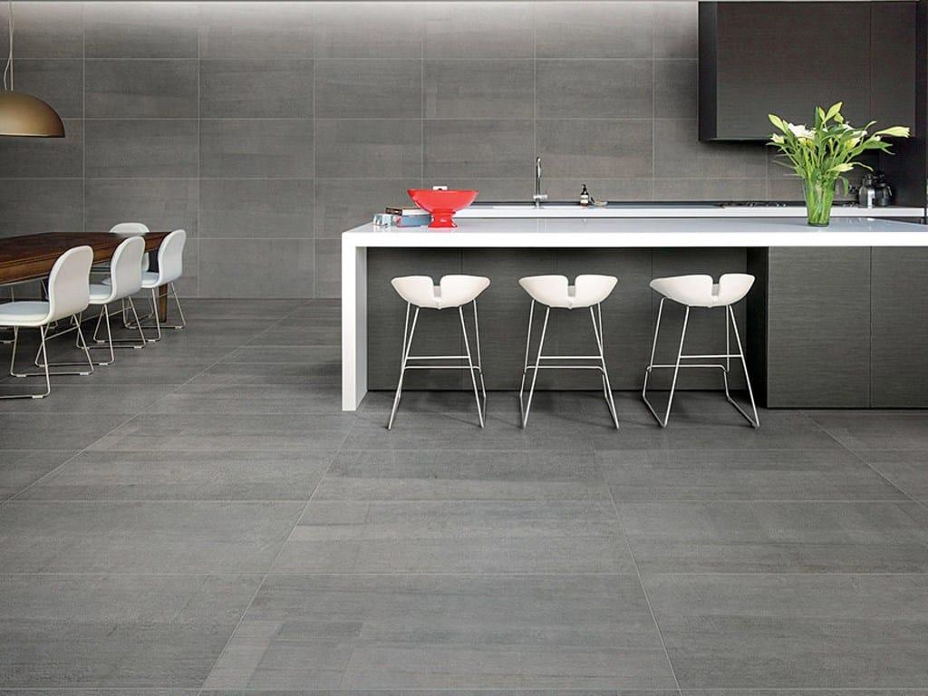 rev tement de sol mur en gr s c rame effet b ton pour. Black Bedroom Furniture Sets. Home Design Ideas