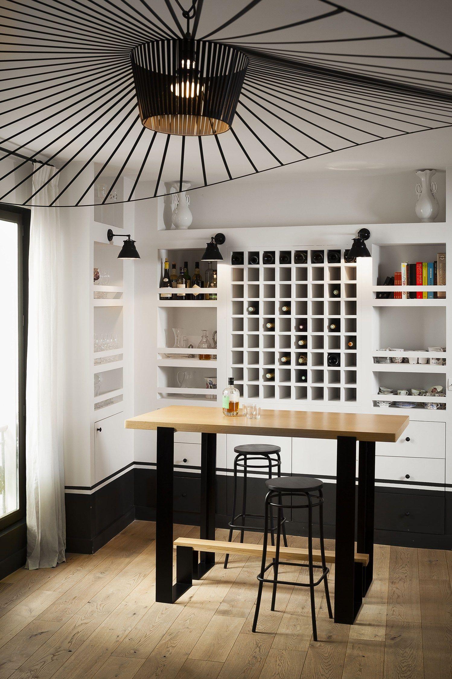 Tavolo alto in legno MAYET BAR by Alex de Rouvray design design Alex ...