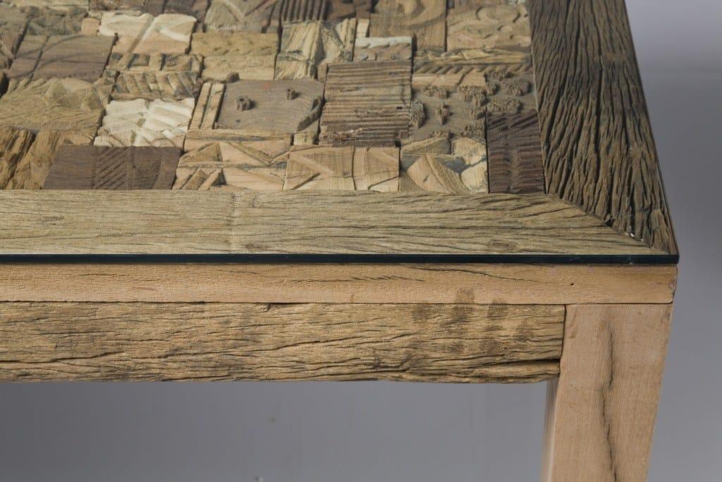 Rechteckiger Tisch aus Holz und Glas MEMORY by KARE-DESIGN