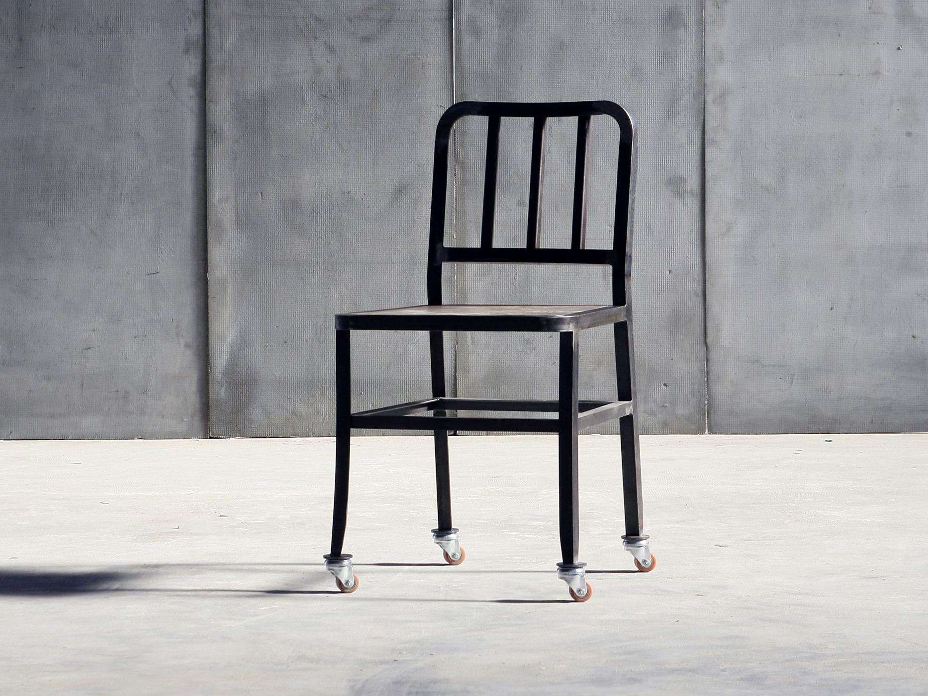 METAL CHAIR Chair with casters By Heerenhuis