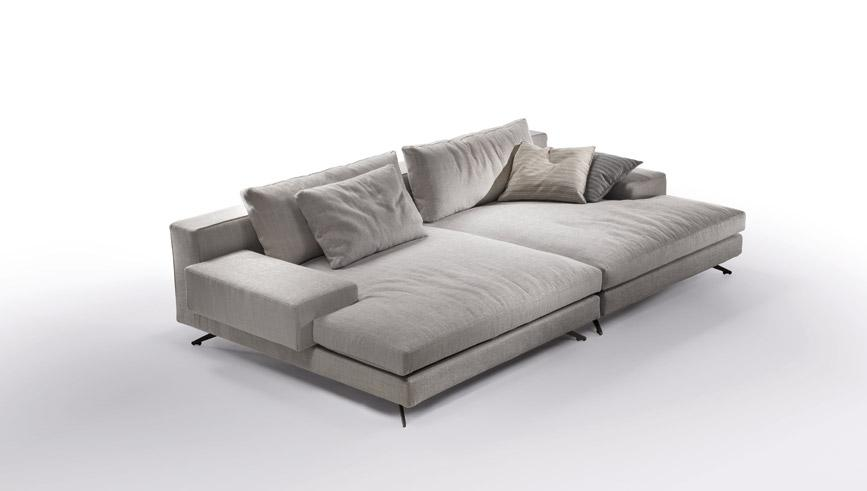 Sof de tecido com chaise longues cole o metropoli by marac for Catalogos de sofas chaise longue