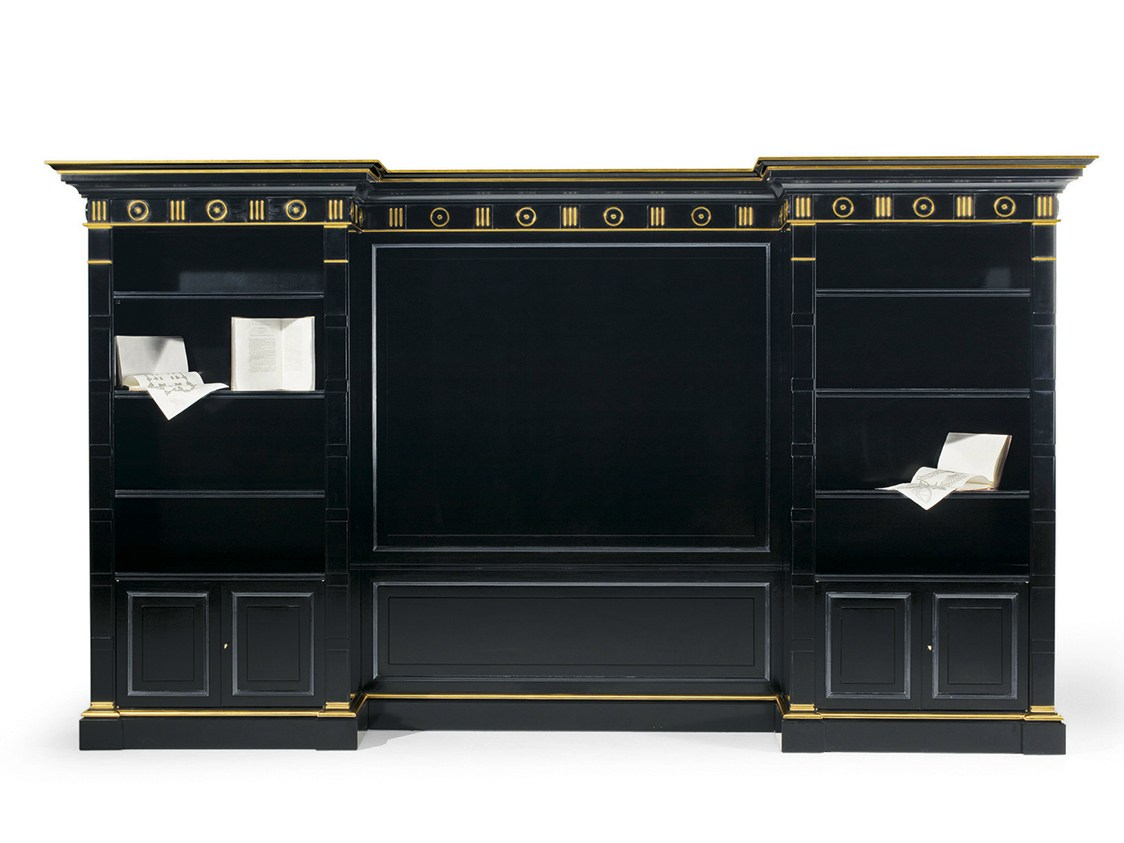 Libreria a giorno laccata in legno mg 1080 by oak for Mg arredamenti