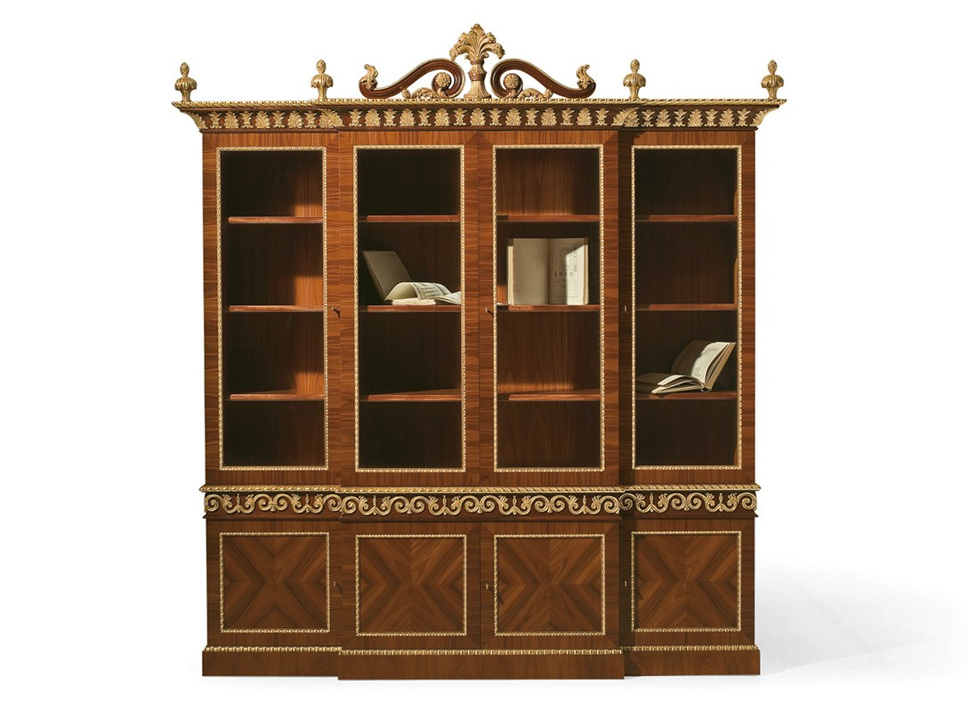 Libreria in palissandro mg 1140 by oak industria arredamenti for Mg arredamenti