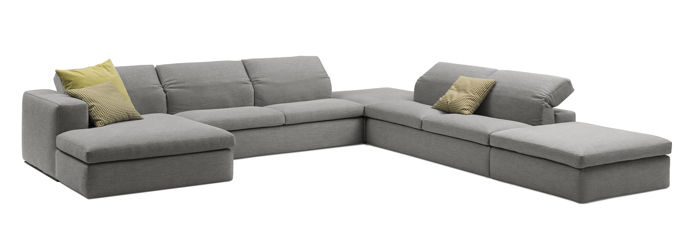Sectional fabric sofa miami by bodema design giuseppe manzoni for Sectional couch miami