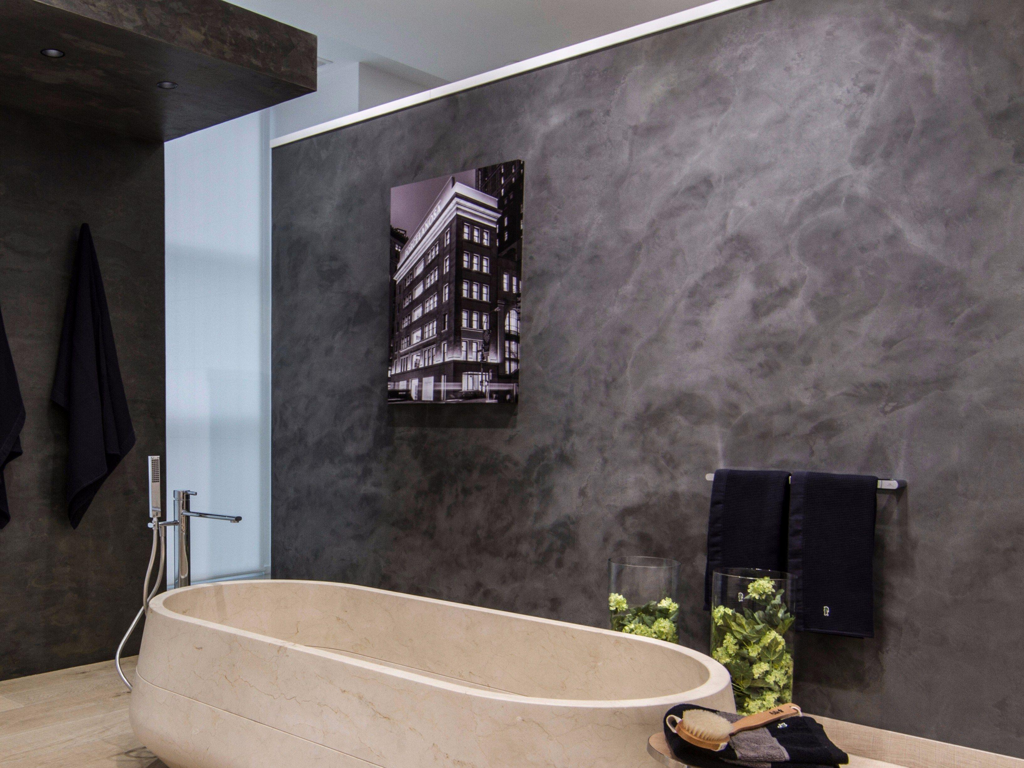 cement finish micro stuk design by butech micro bathroom des