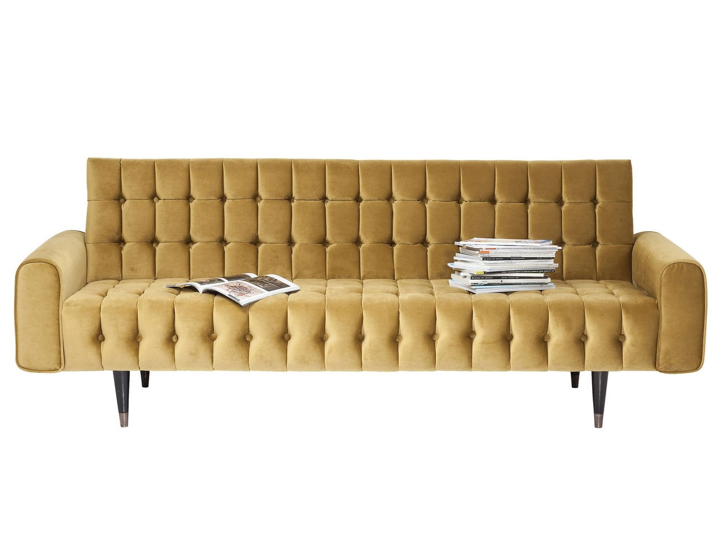 Tufted 3 Seater Fabric Sofa Milchbar Honey By Kare Design