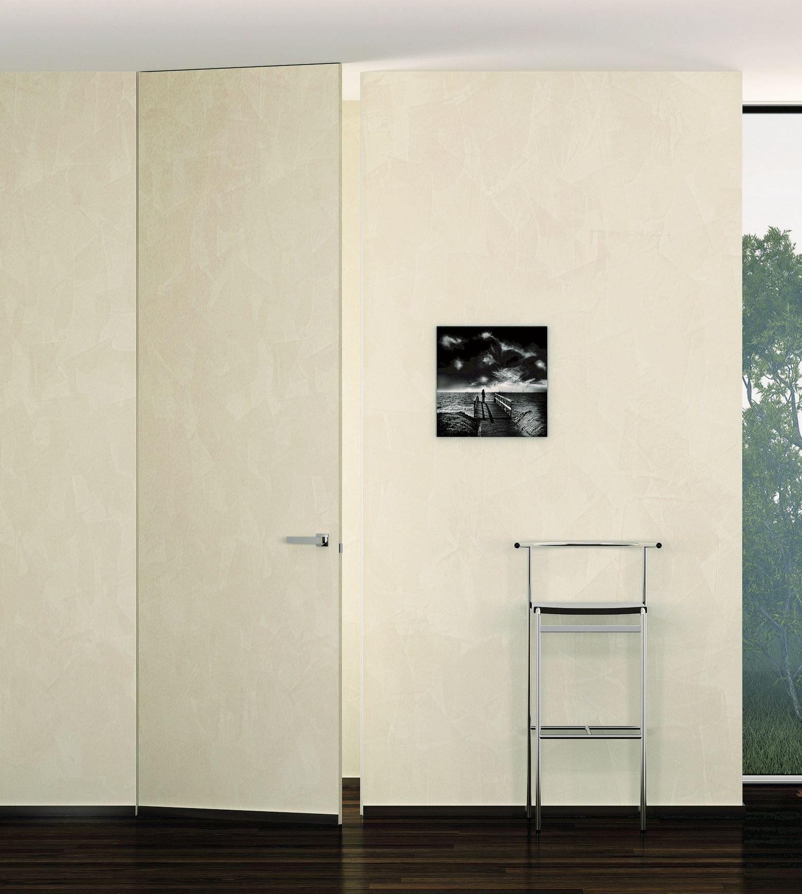 Porta a battente a filo muro mimetica by pail serramenti - Porta a filo muro prezzi ...