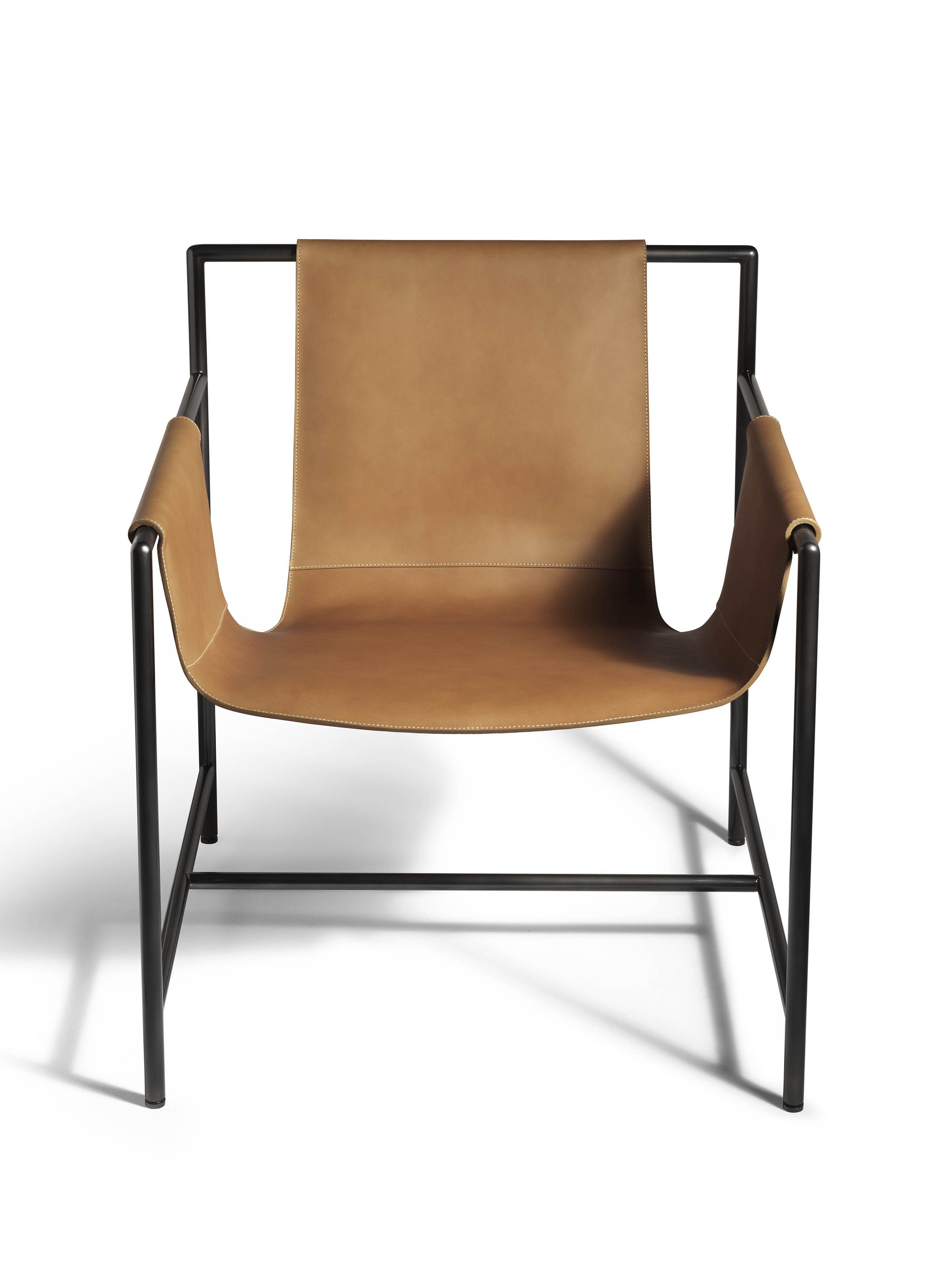 Tanned leather chair ming 39 s heart by poltrona frau design for Chair design leather