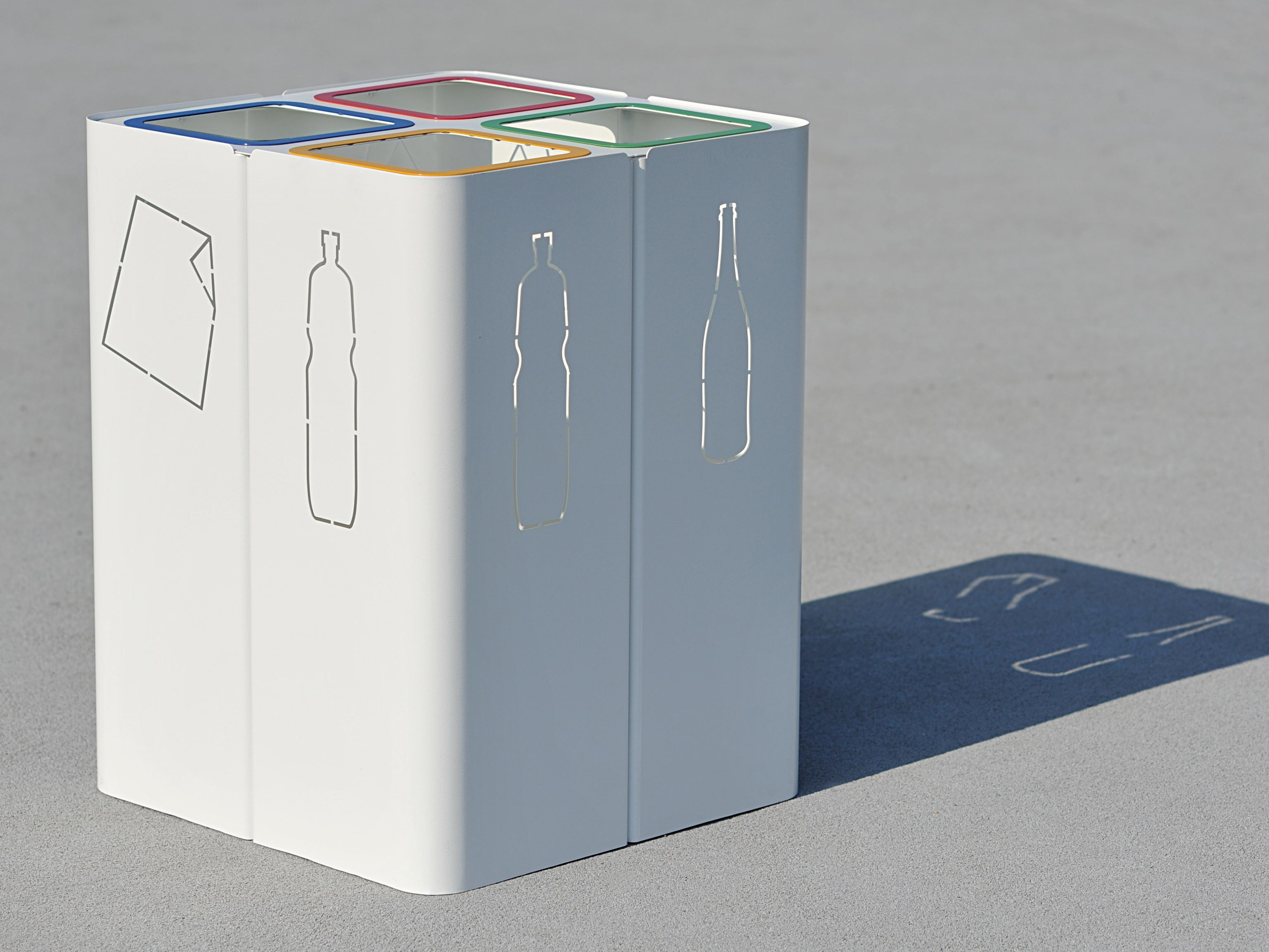 Portarifiuti in acciaio per raccolta differenziata Create a blueprint