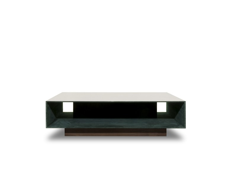 Low square coffee table miroir by baxter design matteo thun antonio rodriguez Low coffee table square