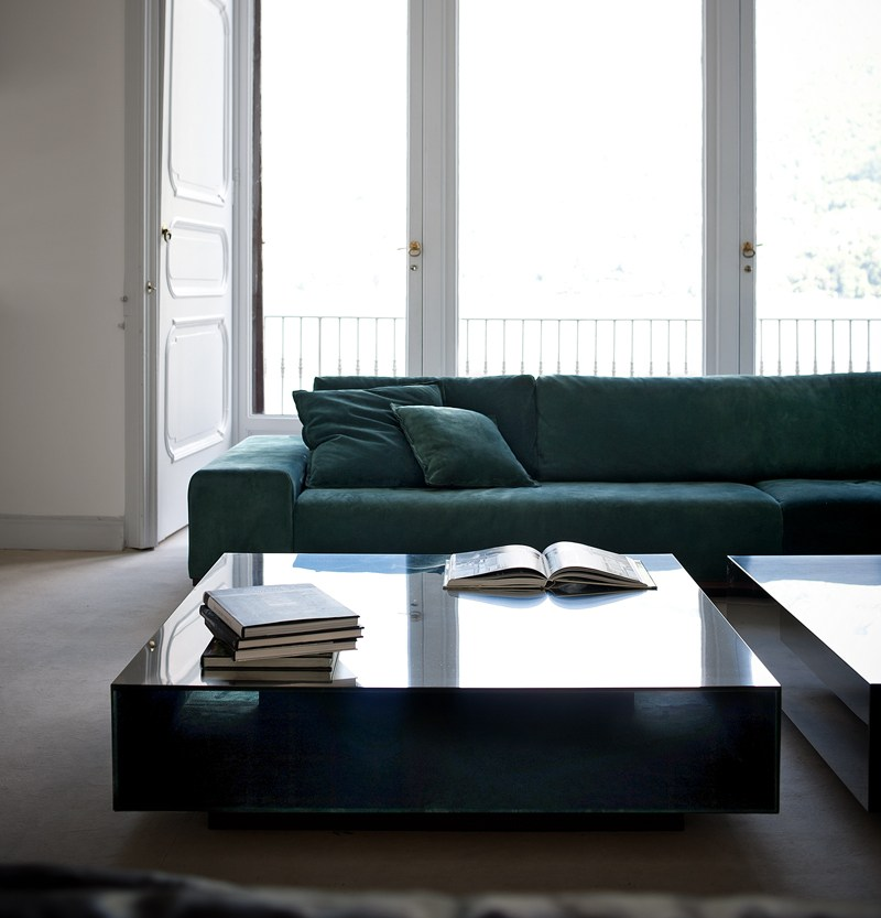 Low Square Mirrored Coffee Table: Low Square Coffee Table MIROIR By BAXTER Design Matteo