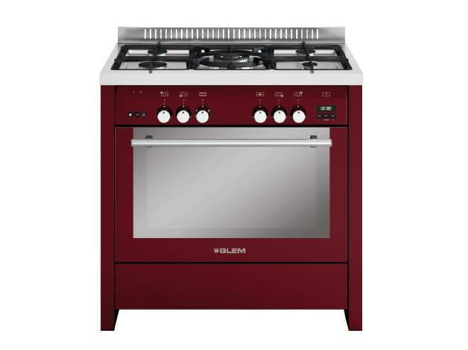 Cucina a libera installazione in acciaio ml912rbr by glem gas - Cucine a gas libera installazione ...