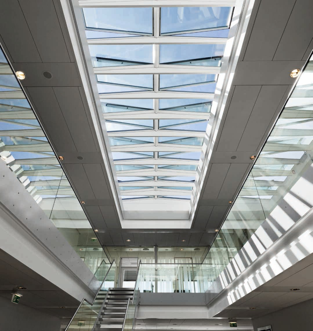 Glass And Steel Roof Window Modular Skylights By Velux