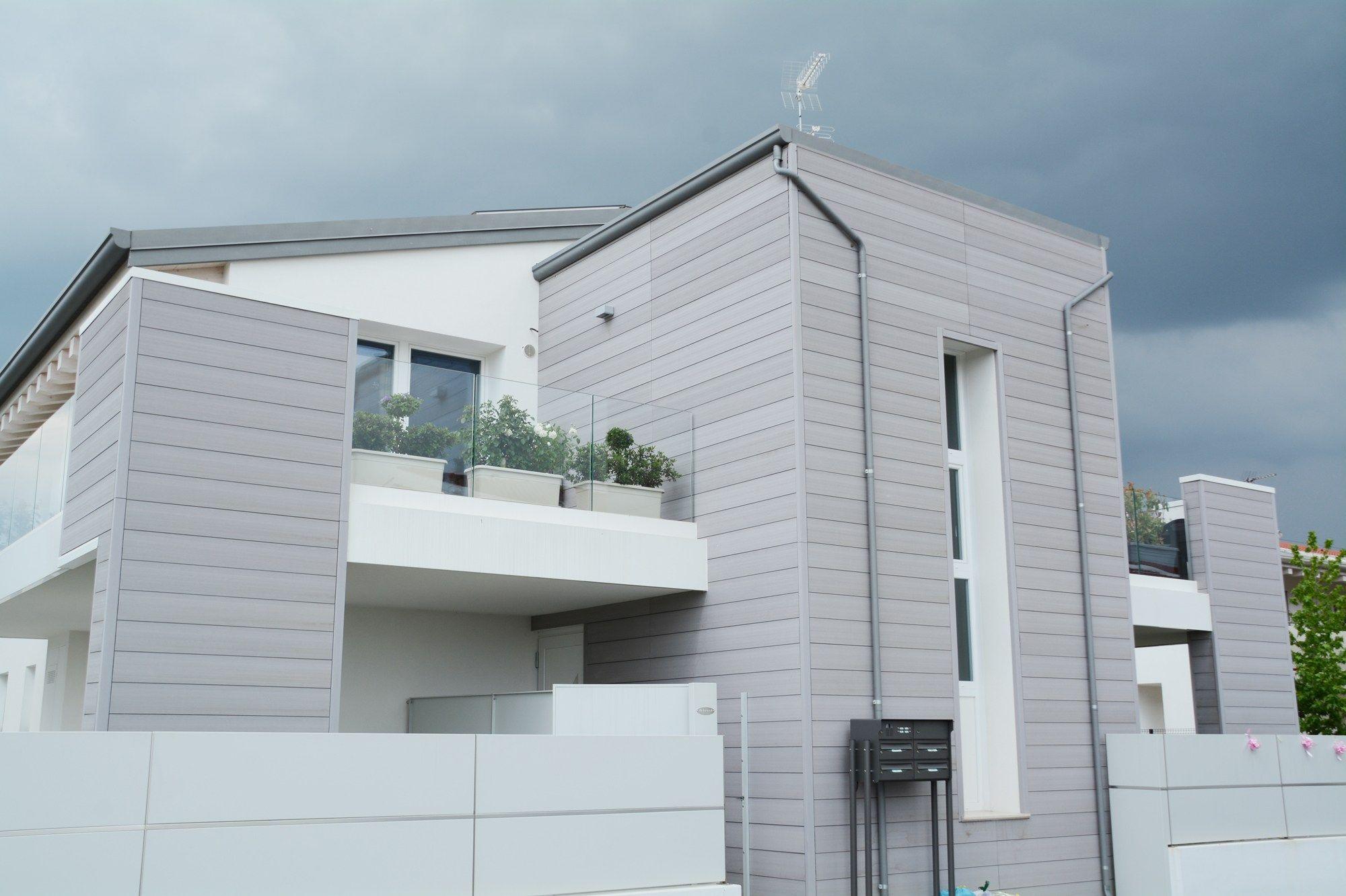 Pannello di facciata in materiale composito modulatus for Immagini facciate case