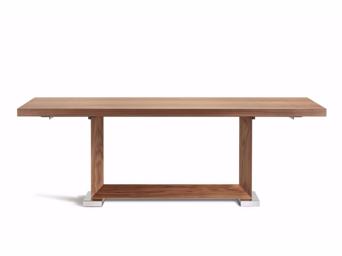 Table extensible rectangulaire en bois monaco drive by for Table rectangulaire extensible bois