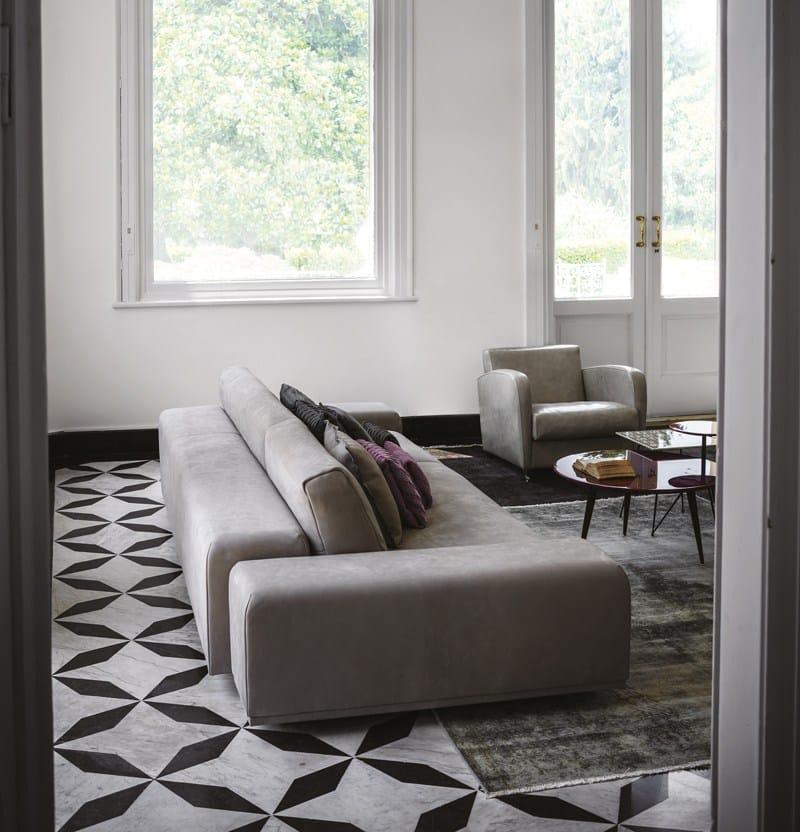divano in pelle monsieur by baxter design matteo thun