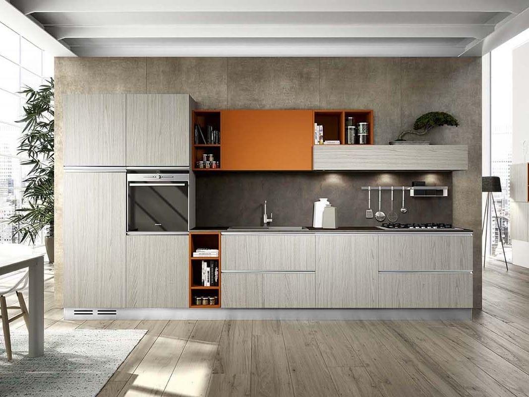 Cucina componibile con maniglie moon duna diva by arredo 3 for Cucine arredo tre