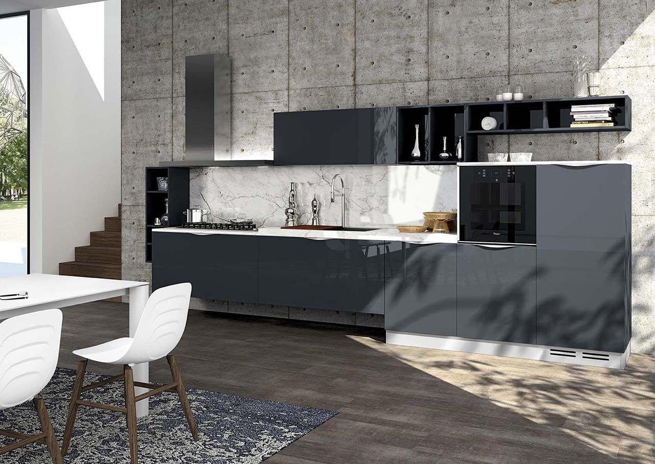 Cucina componibile con maniglie moon duna diva by arredo 3 for Visma arredo 3