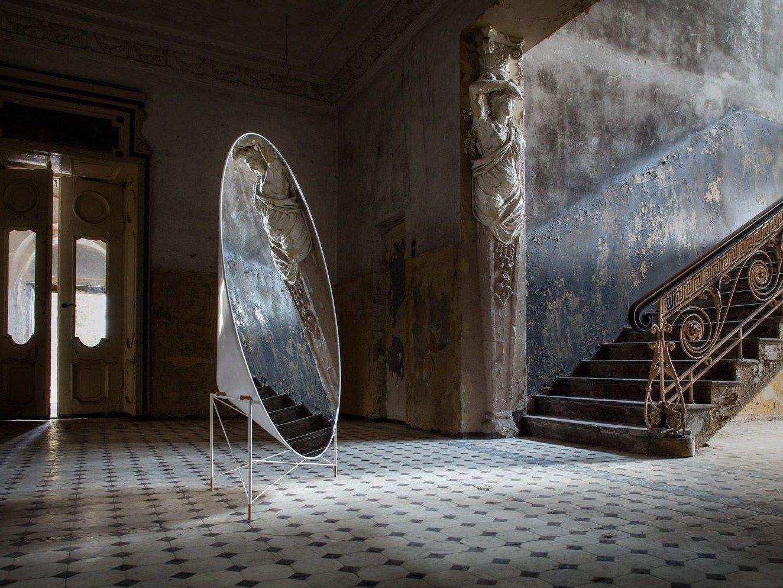 Specchio da terra mudu by design studio heima - Specchio ovale da terra ...