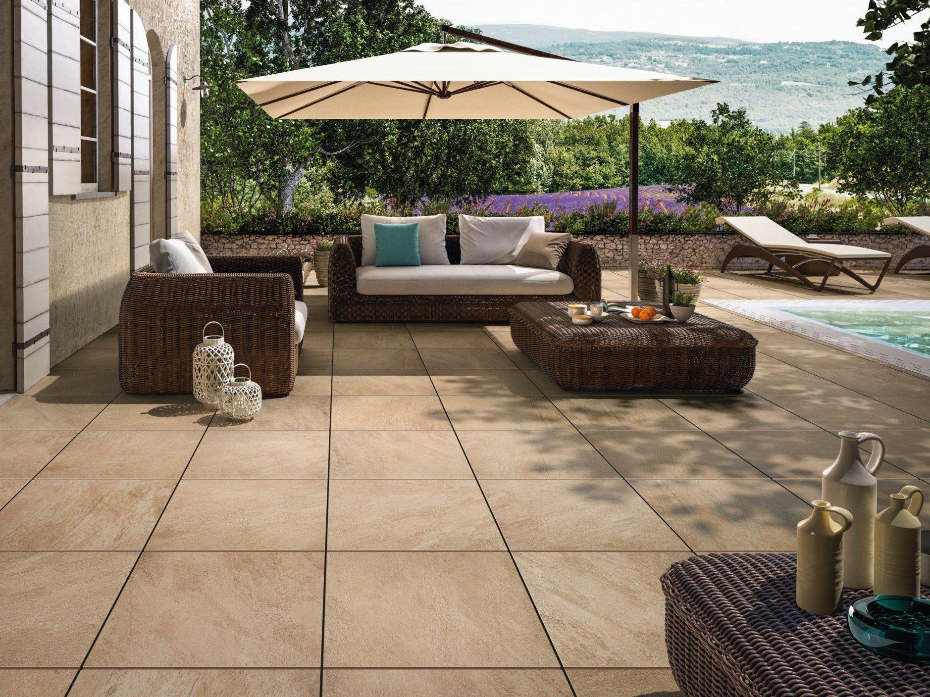 pavimento per esterni in gres porcellanato effetto pietra my earth outdoor by villeroy boch. Black Bedroom Furniture Sets. Home Design Ideas