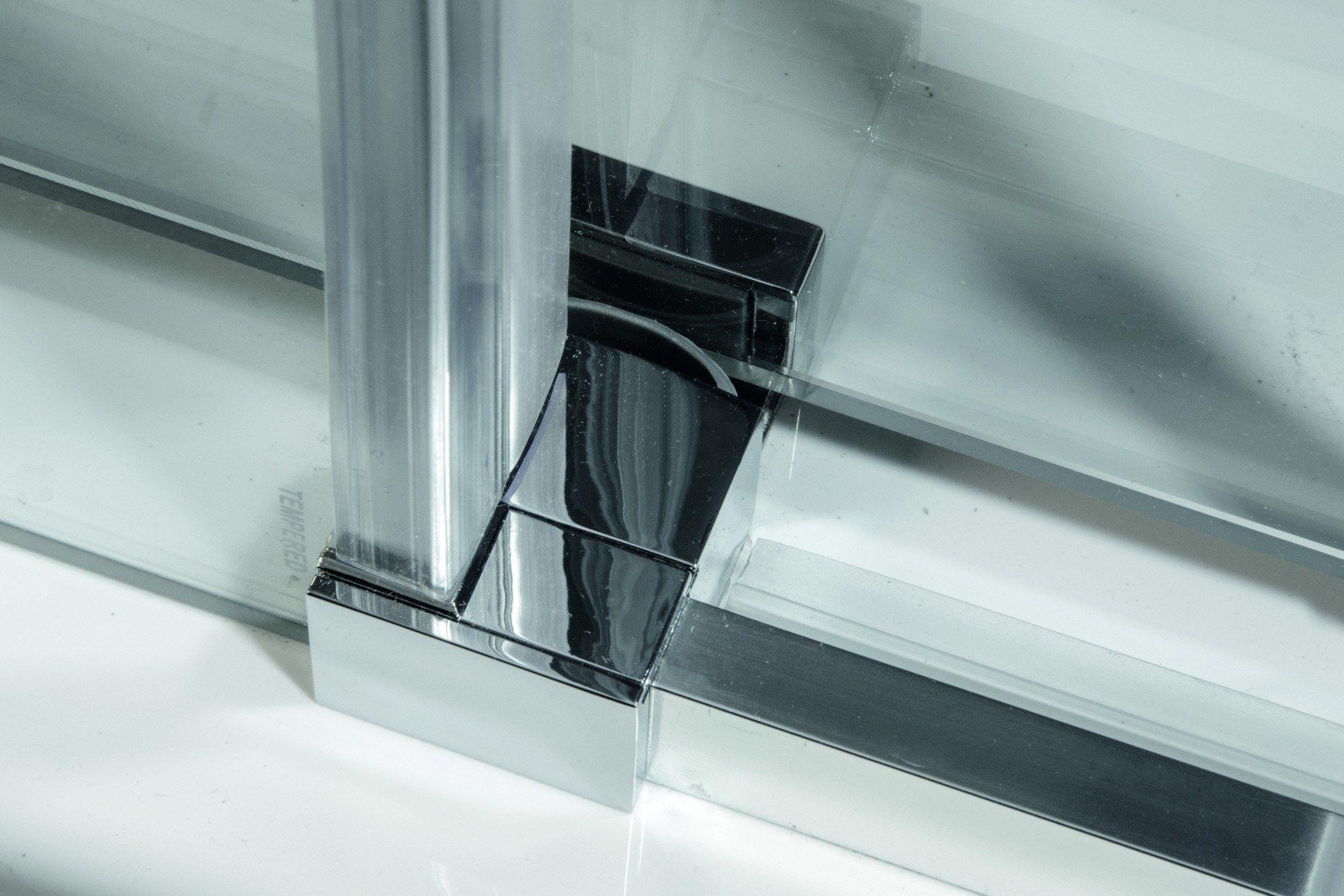 Box doccia angolare in alluminio e vetro con porte - Box doccia relax ...