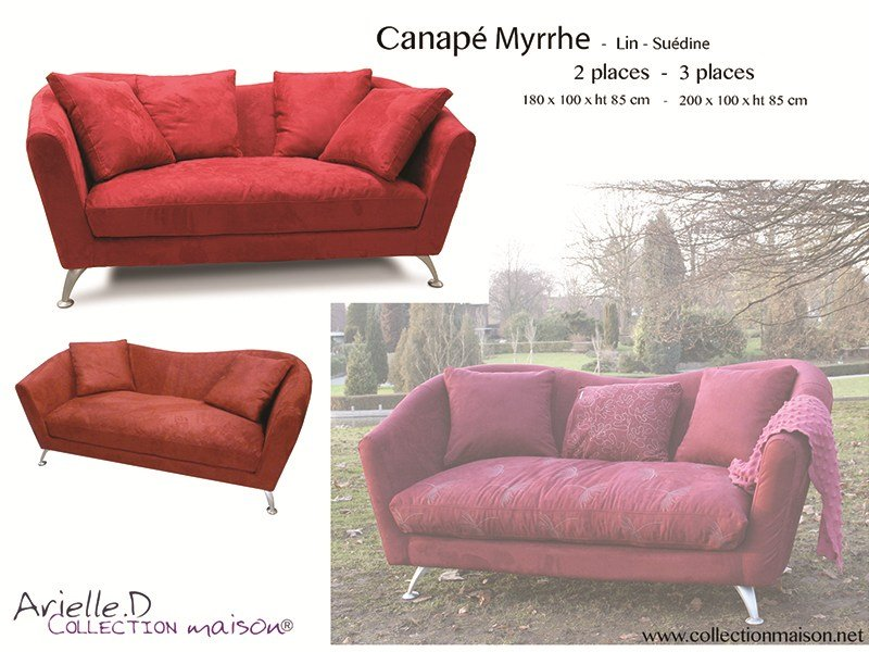 Myrrhe divano a 3 posti by collection maison design arielle d for Arielle d collection maison