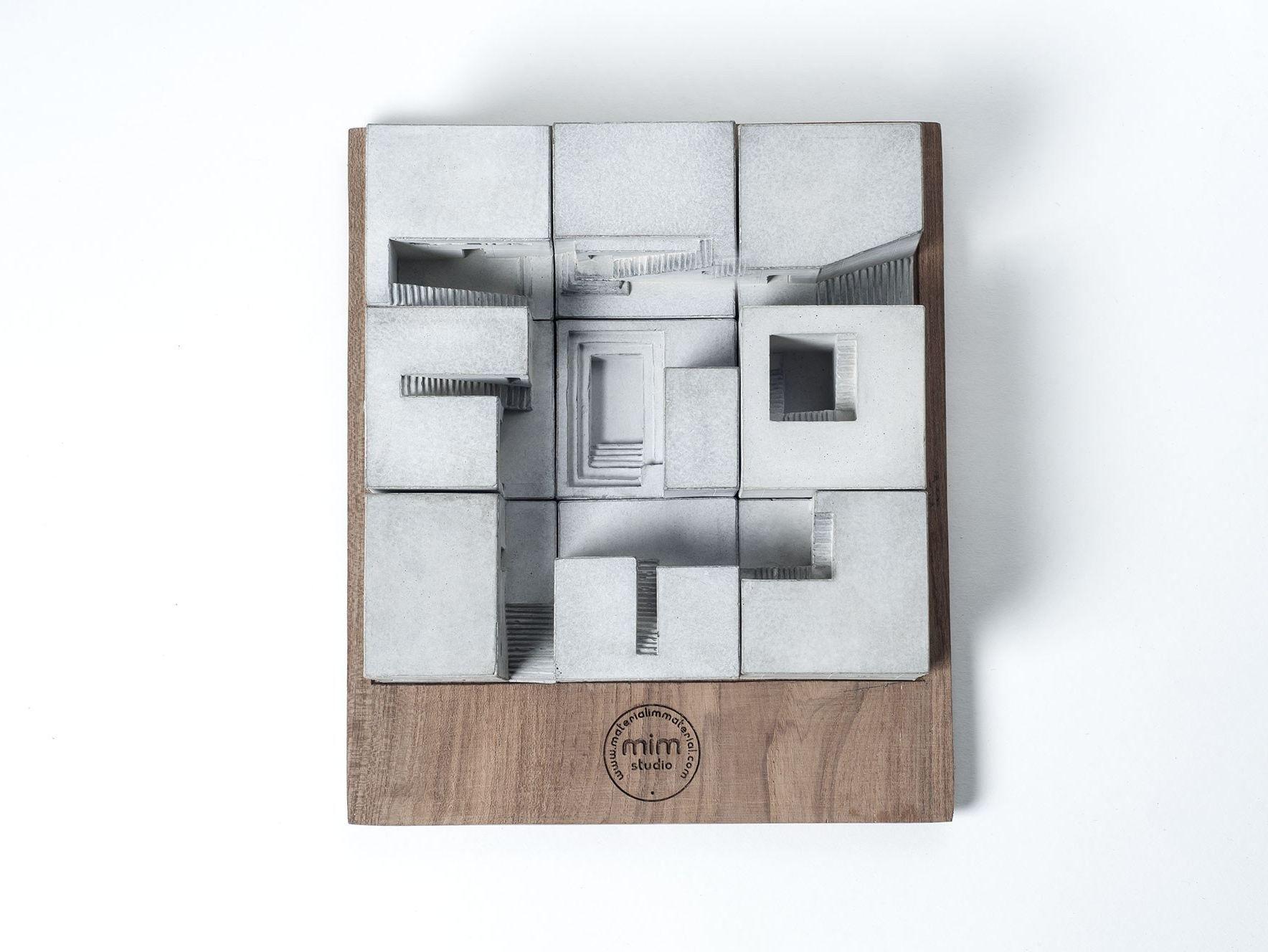 Concrete architectural model miniature concrete homes for Miniature architecture