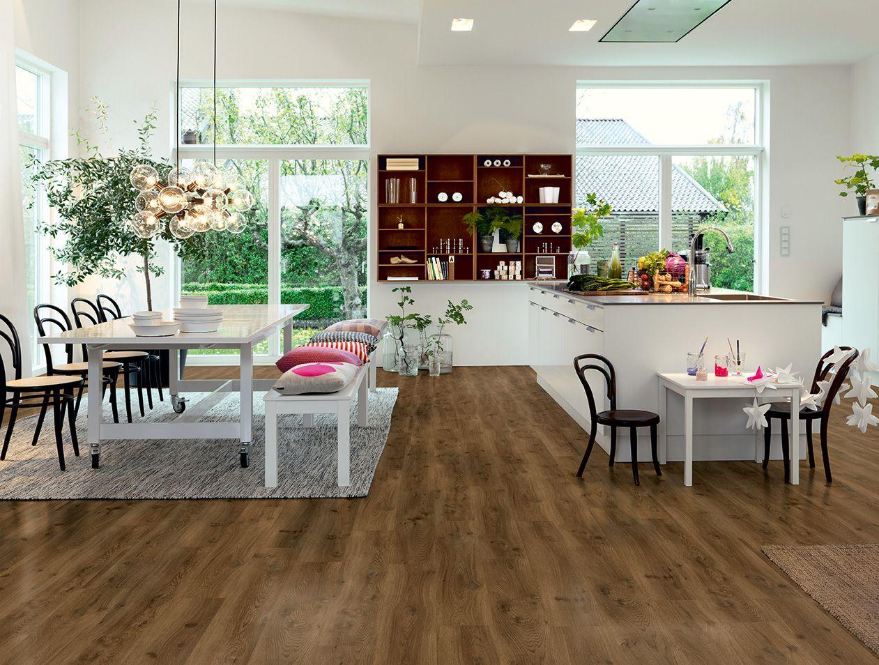Pavimento in vinile effetto legno rovere moderno moka for Pavimento vinile