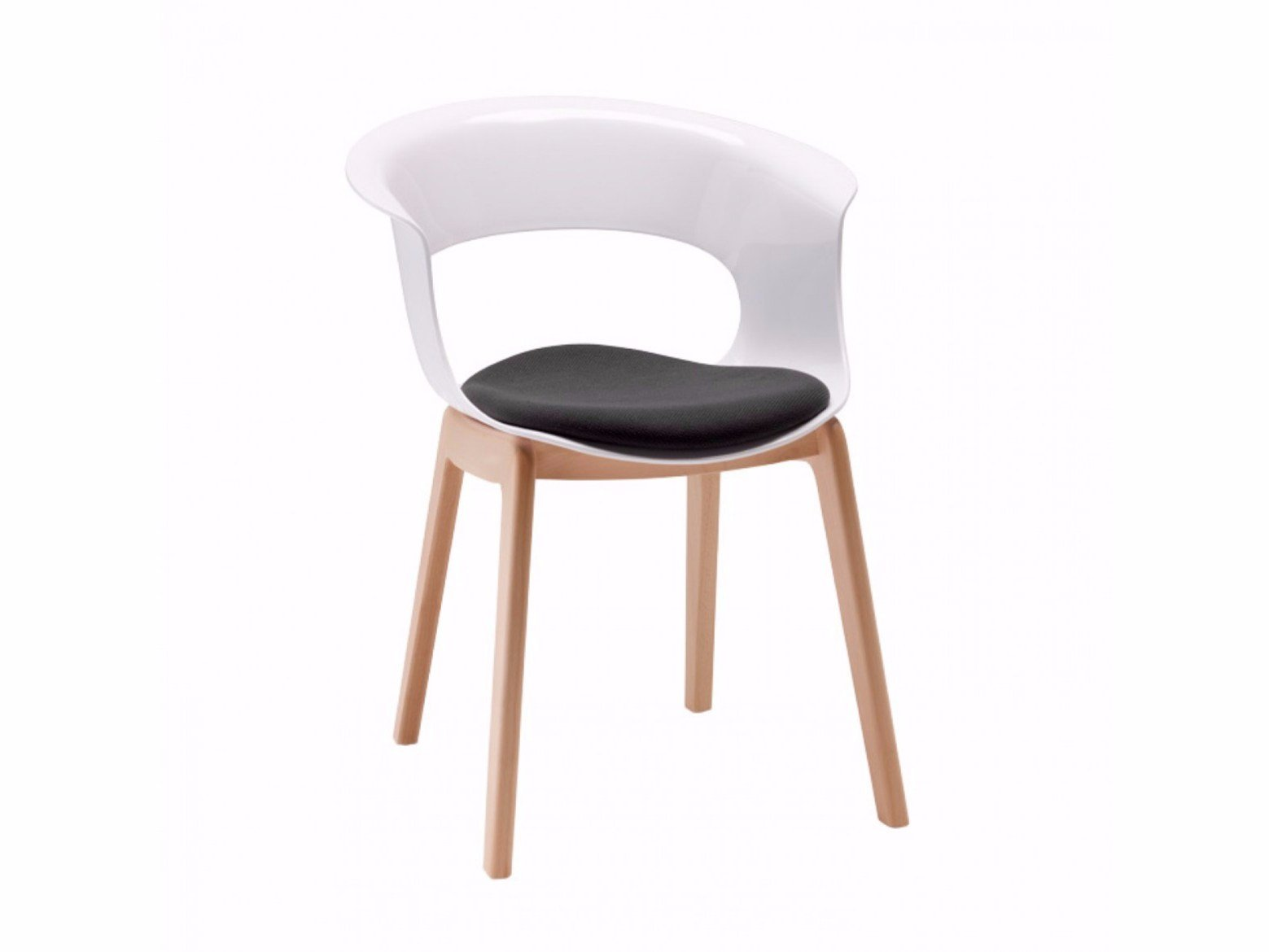 Polycarbonate chair NATURAL MISS B ANTISHOCK by SCAB