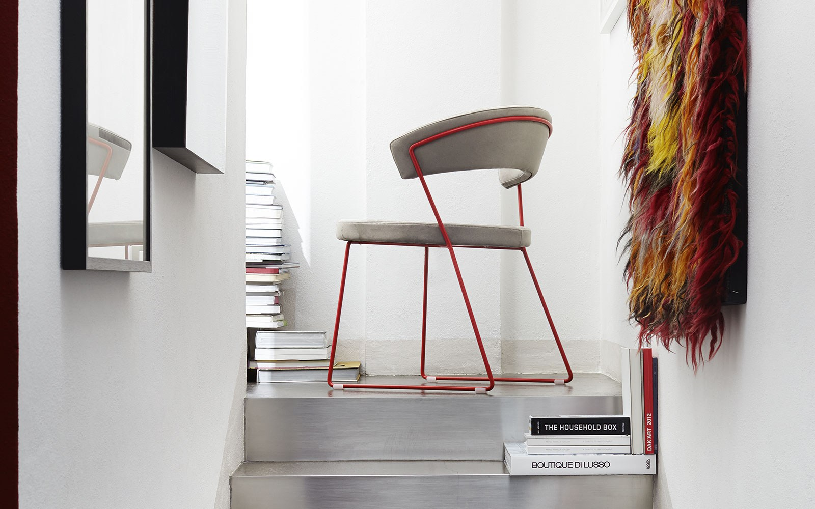 New York Sedia A Slitta By Calligaris Design Lupo Design