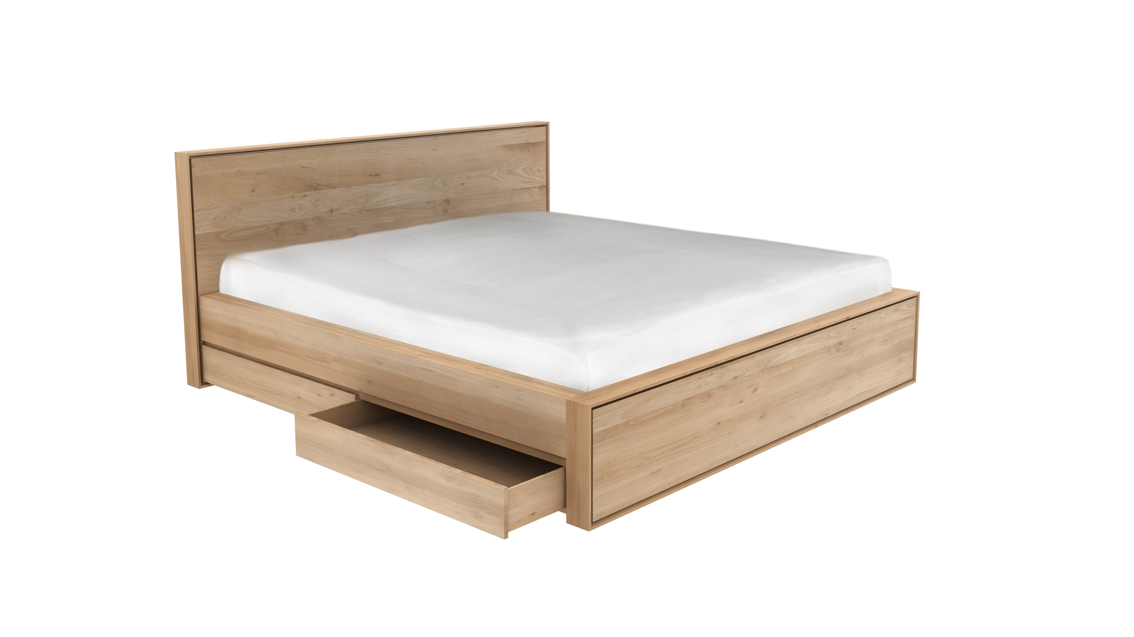 Oak nordic ii bett mit bettkasten kollektion oak nordic by ethnicraft