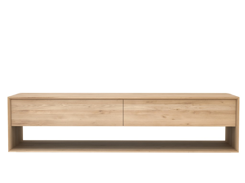 Oak nordic mueble tv de madera maciza by ethnicraft for Mueble tv madera maciza