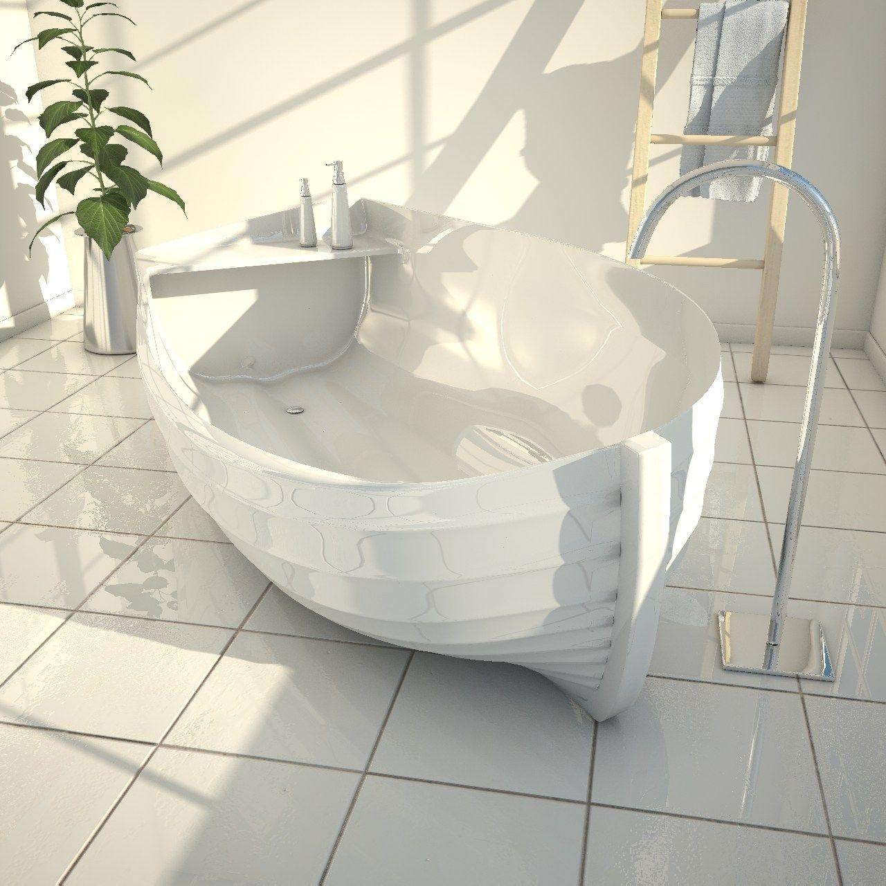Vasca da bagno centro stanza in adamantx® ocean by zad italy ...