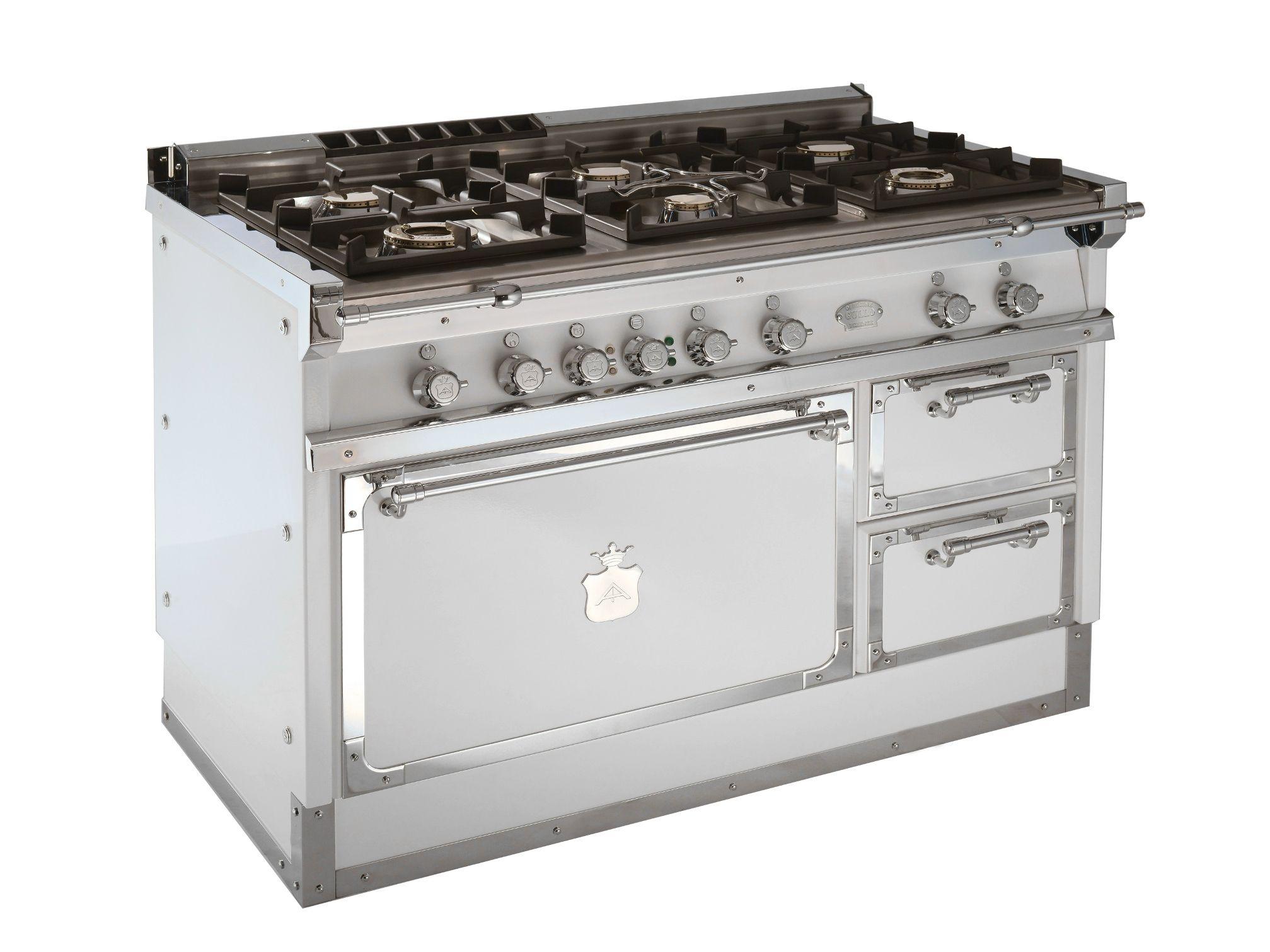 Cucina a libera installazione og128 bianco e ottone cromato by officine gullo - Officine gullo cucine prezzi ...