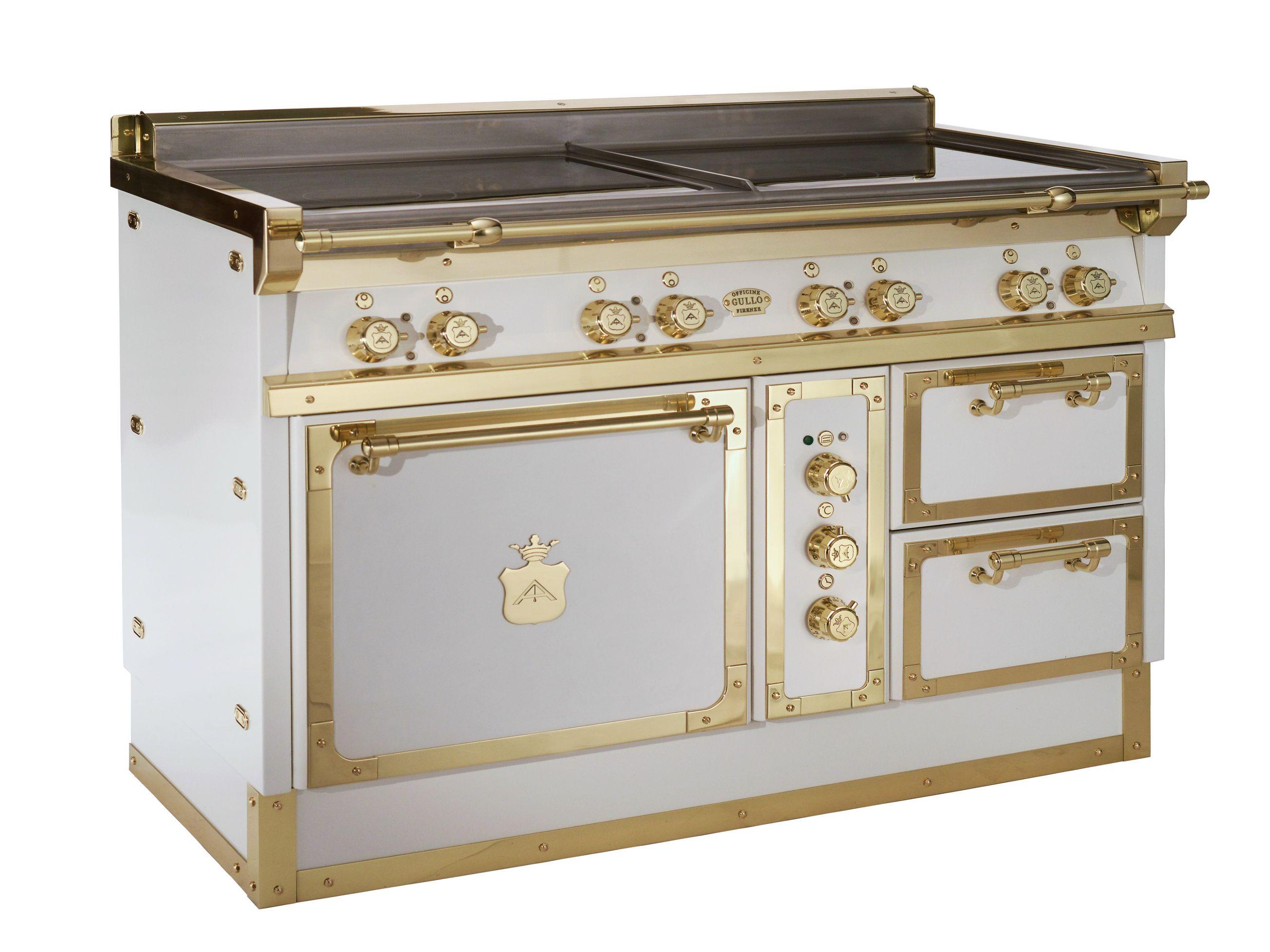 Cucina a libera installazione og128 bianco e ottone lucido by officine gullo - Officine gullo cucine prezzi ...