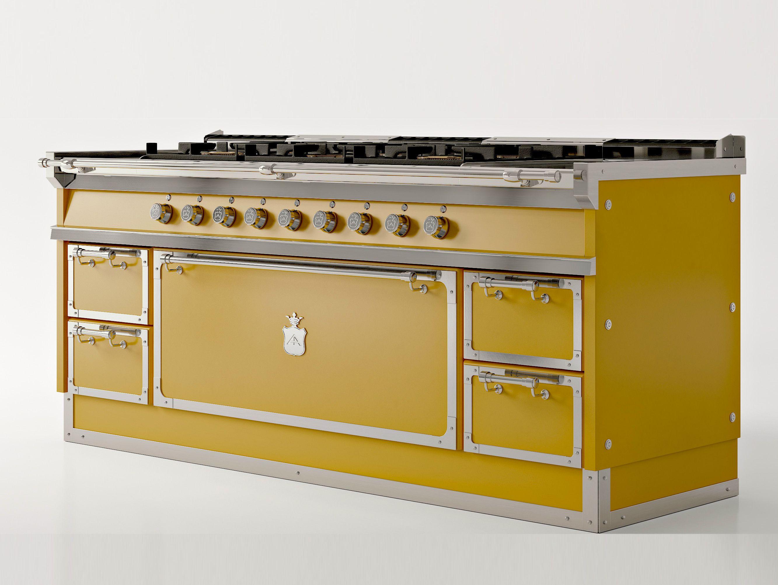 Cucina a libera installazione og208 giallo sole by for Cucina libera installazione