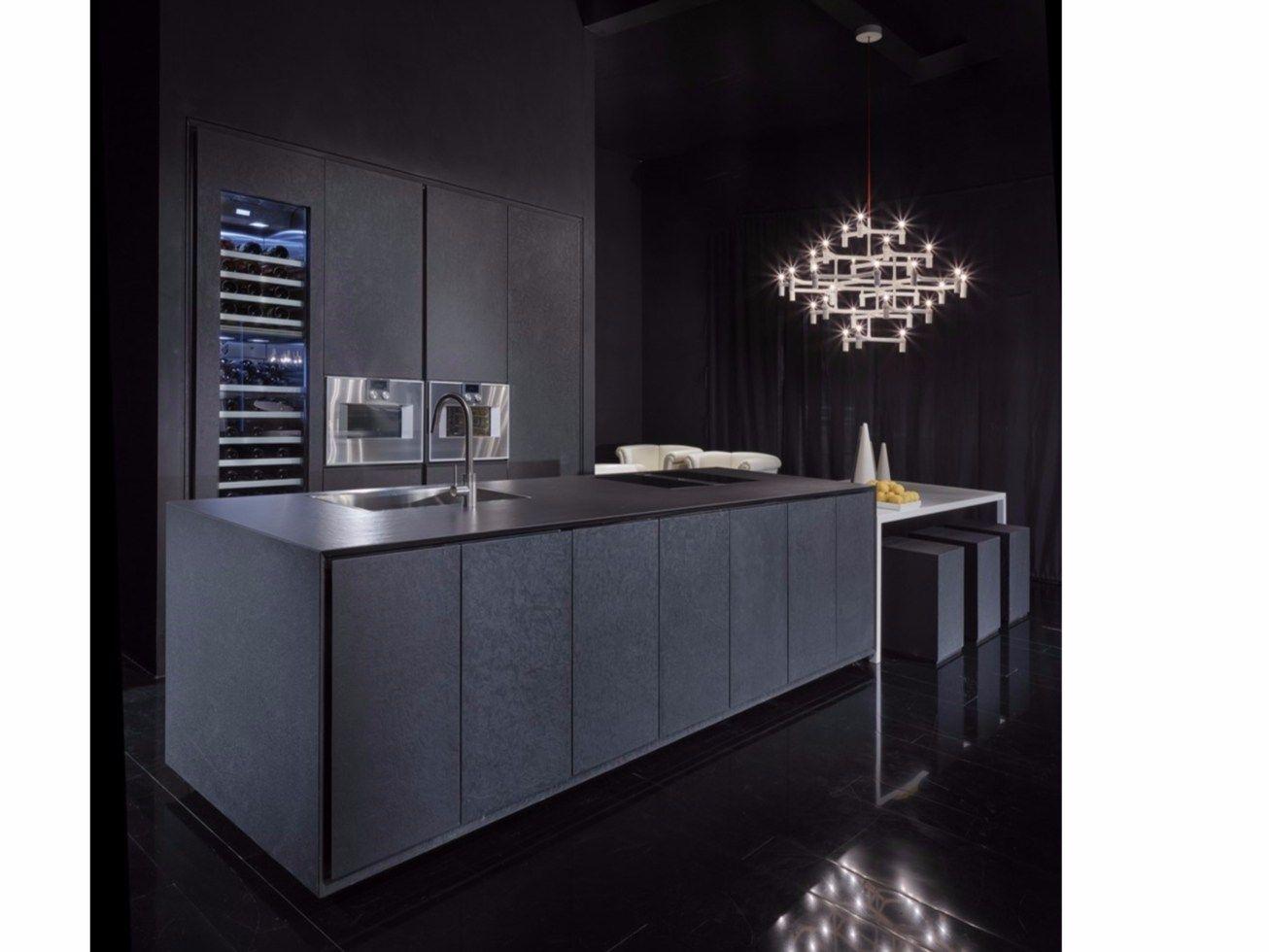 One küche aus lavastein by rifra