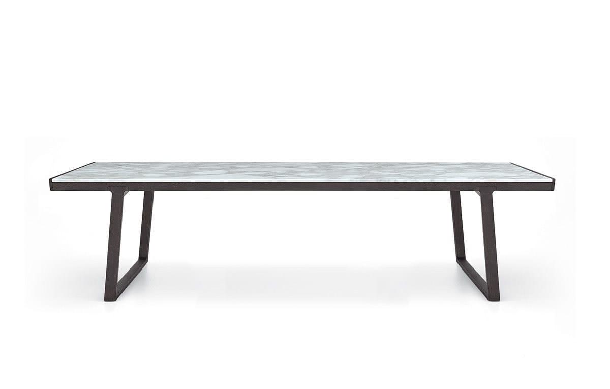 Tavolo allungabile da salotto rettangolare in marmo op ra for Tavolo da salotto allungabile
