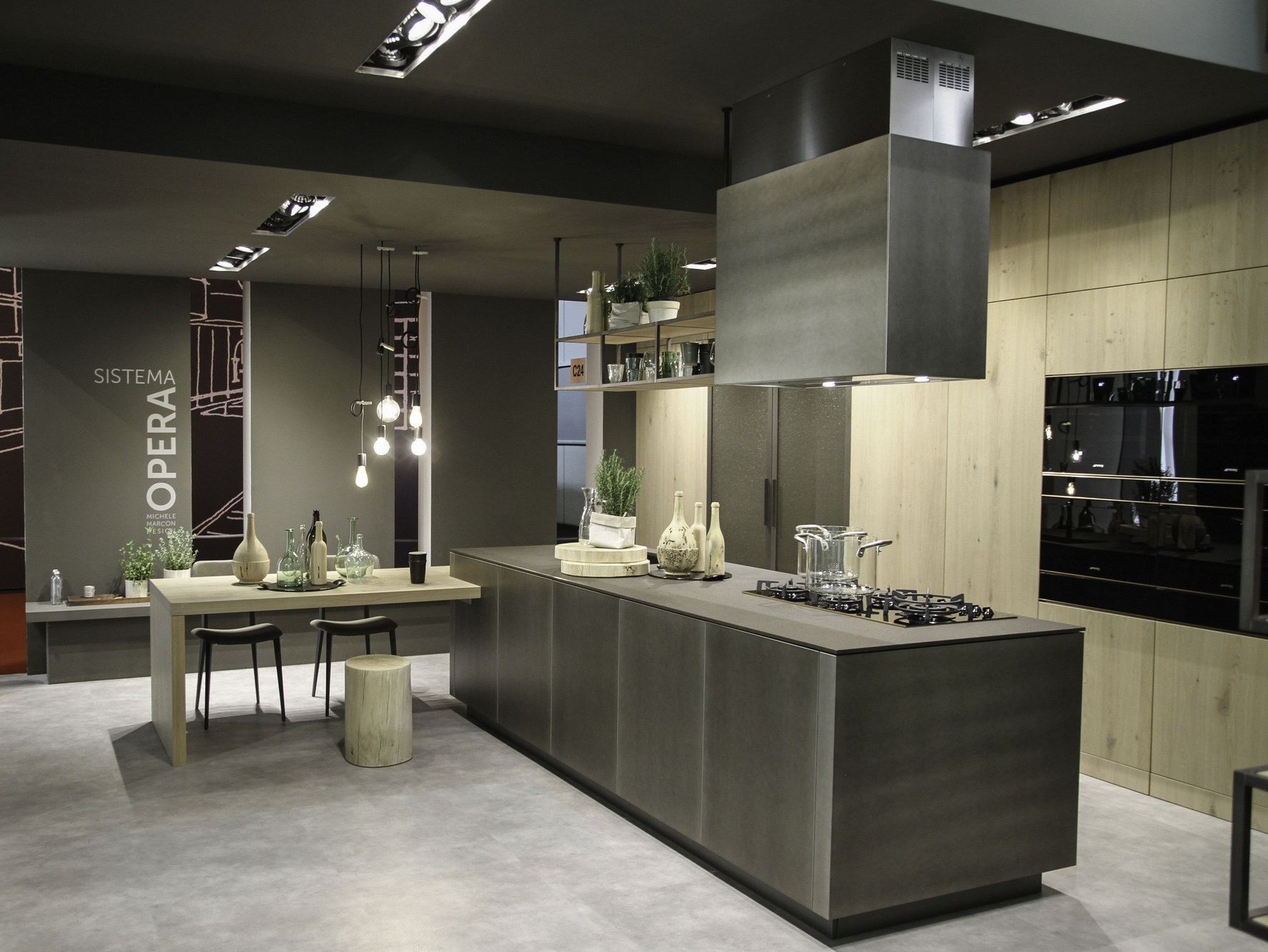 Opera kitchen with island by snaidero for Snaidero kitchen
