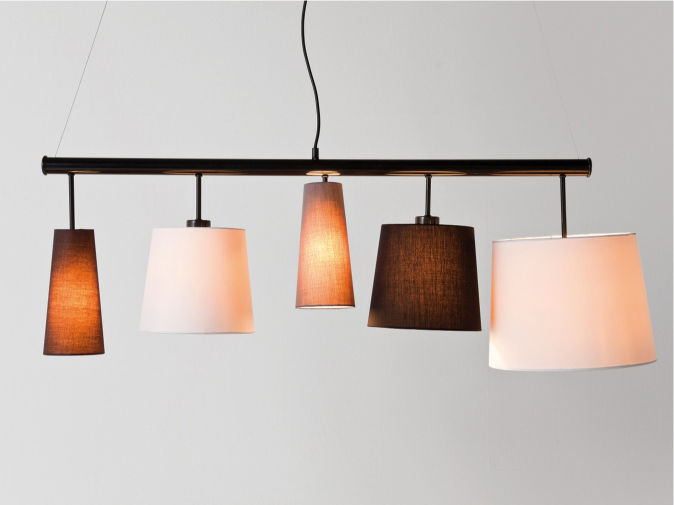 Indirect Light Fabric Pendant Lamp Parecchi Black By Kare Design