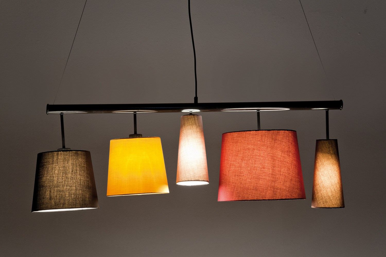 Indirect Light Fabric Pendant Lamp Parecchi Colore By Kare Design