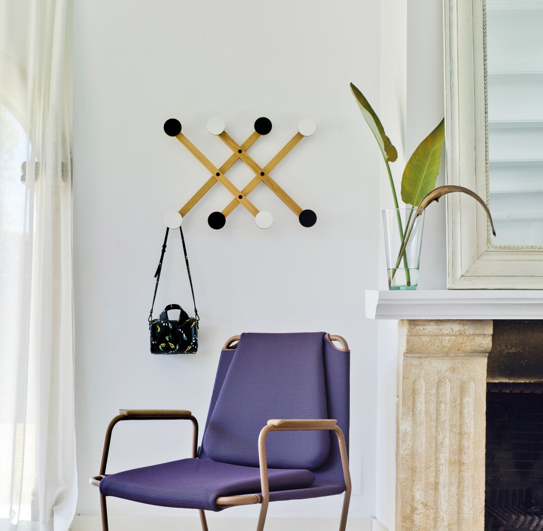 Wall mounted wooden coat rack PAULI by SANCAL design Mark