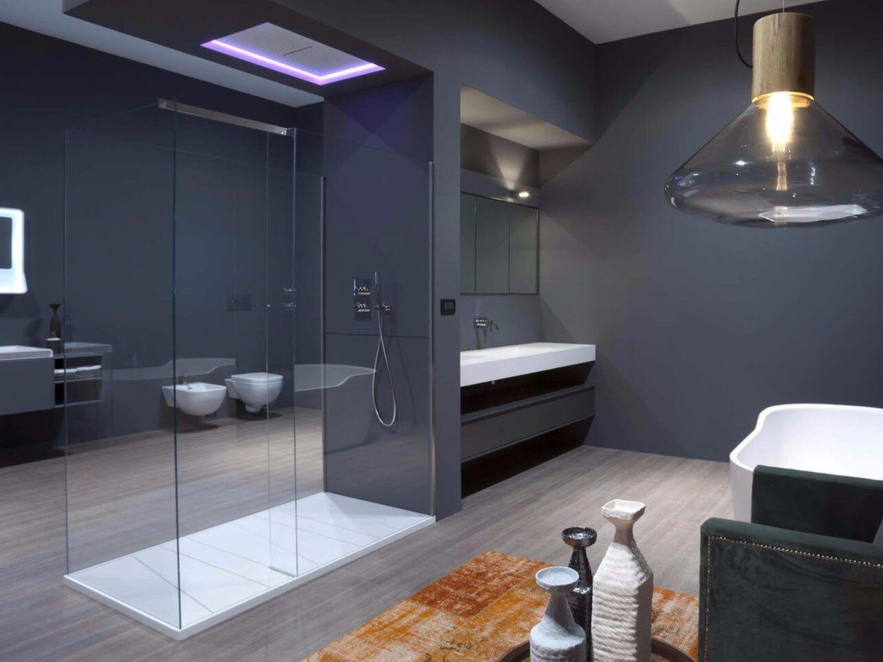 box doccia in vetro temperato con piatto penisola by antonio lupi design design nevio tellatin. Black Bedroom Furniture Sets. Home Design Ideas