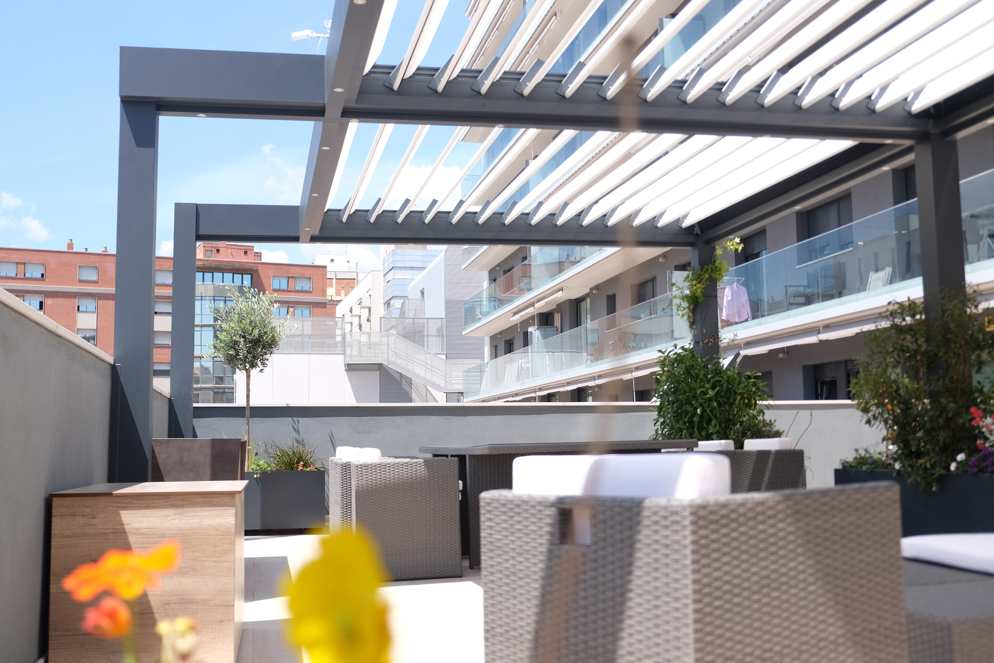 Pergolas para terrazas top with pergolas de madera para - Pergolas de terraza ...