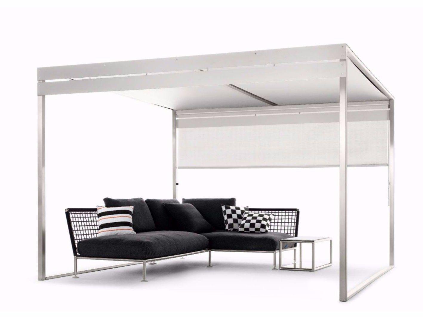 freistehende terrassen berdachung aus stahl pergola by. Black Bedroom Furniture Sets. Home Design Ideas