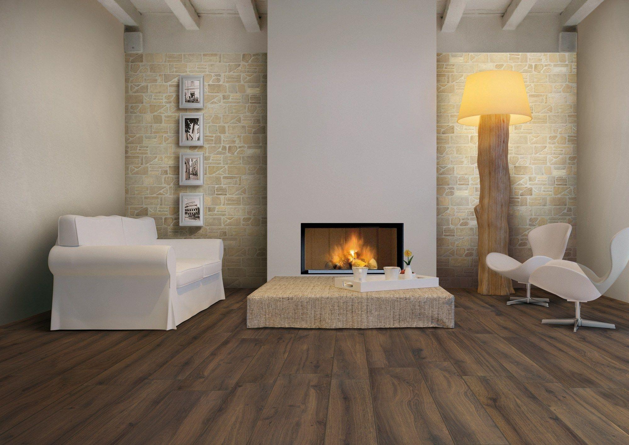 Pavimento rivestimento effetto pietra per interni ed - Rivestimento cucina effetto pietra ...