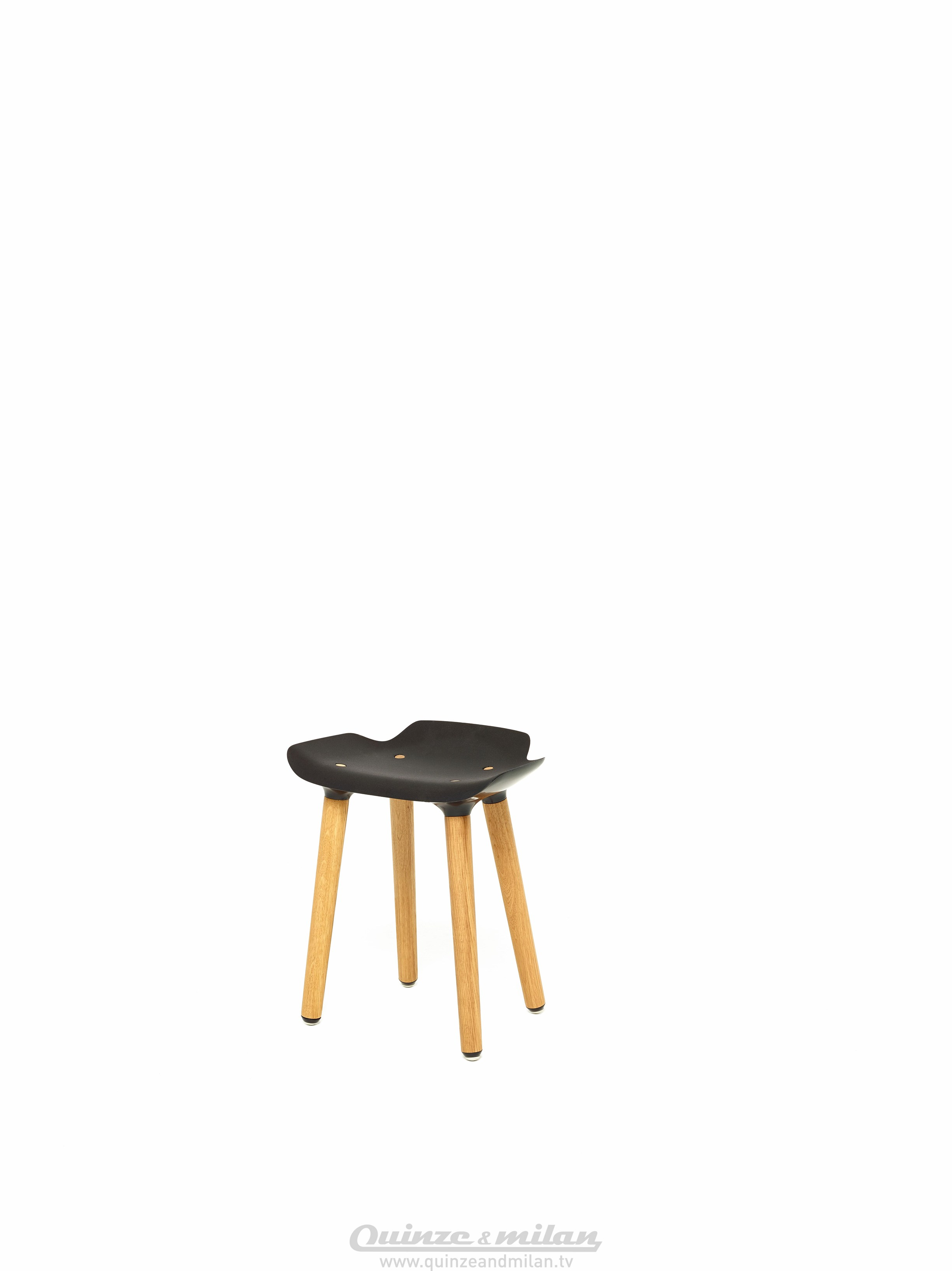 Wonderful image of Low wooden stool PILOT STOOL by Quinze & Milan design Patrick  with #AF721C color and 2448x3268 pixels